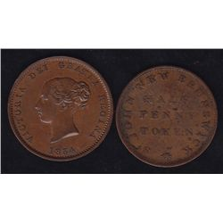 Lot of 2 New Brunswick Tokens
