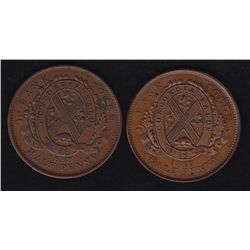 Lot of 2 Canadian Tokens