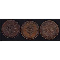 Lot of 3 Lower Canada Tokens