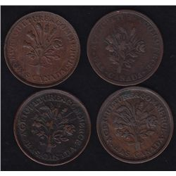 Lot of 4 Lower Canada Tokens