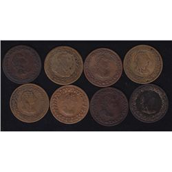 Lot of 8 Lower Canada Tokens
