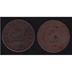 Lot of 2 Lower Canada Tokens