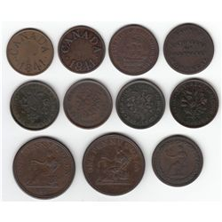 Lot of 11 Lower Canada Tokens