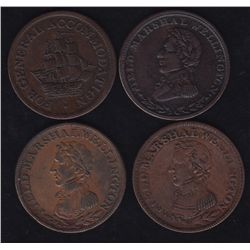 Lot of 4 Canadian Tokens