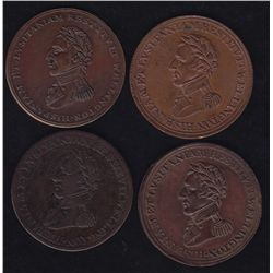 Lot of 4 Wellington Tokens