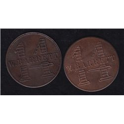 Lot of Two Breton list tokens