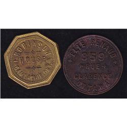 Lot of Two Breton list tokens