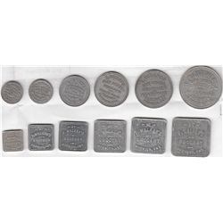 Lot of Fifteen Norwich, Ont., Oxford County Due Bill Tokens