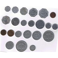 Lot of Twenty-two Norfolk County, Ont. Tokens