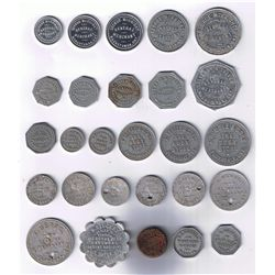 Lot of Twenty-seven Ontario Bread and Due Bill Tokens