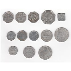 Lot of Thirteen Grey County Ont. Due Bill Tokens
