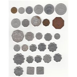 Lot of Twenty-nine Ontario Due Bill and Bread Tokens