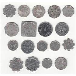 Lot of Eighteen Ontario Due Bill, Bread, Milk and Service Tokens