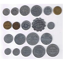 Lot of Twenty Ontario Canteen, Hotel, Spinner and Due Bill Tokens