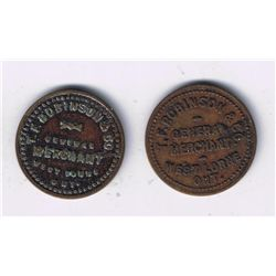 Lot of Two West Lorne, Ontario Tokens