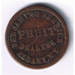 Lot of 3 Albany, NY Civil War Tokens.