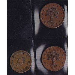 Lot of 3 NY, NY Civil War Tokens.