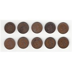 Lot of 10 Patriotic Tokens.