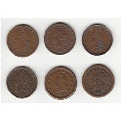 Lot of 6 Patriotic Tokens.