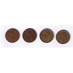 Lot of 4 Patriotic Tokens.