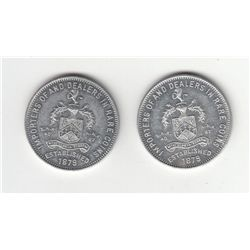 Lot of two Arnold Numismatic Co, Providence, RI advertising pieces.