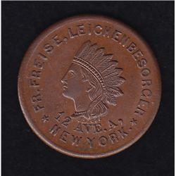 New York Undertaker Token.