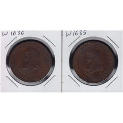 Withers 1635 & 1636 Commerce Penny Tokens.
