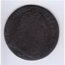 Georgius III Rex Obverse Brockage.