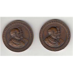 Lot of 2 Numismatist's Medals.