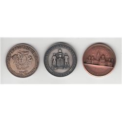 Lot of three Coin Club/ Society medals.