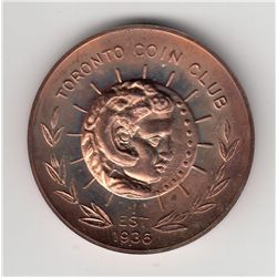 1971 Toronto Coin Club medal.