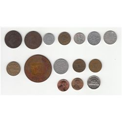 Lot of 20 Misc Coins & Tokens.