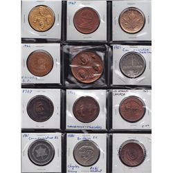 Lot of 25 Assorted Modern Medallions.