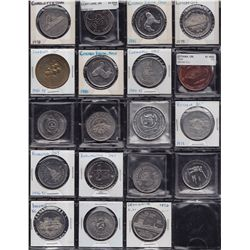 Lot of 207 Trade Dollars, Tokens and Medals.