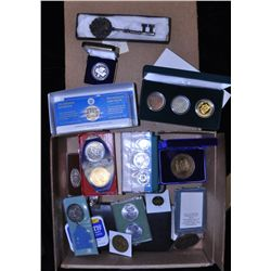 Interesting Box Lot of Medals & Tokens.