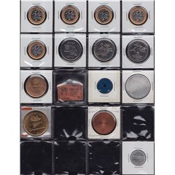 Lot of 60 Assorted Medals & Tokens.