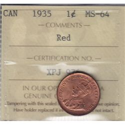 1935 One Cent.