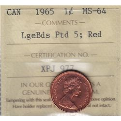 1965 One Cent.
