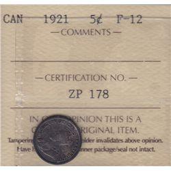 1921 Five Cent.