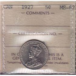 1927 Five Cent.