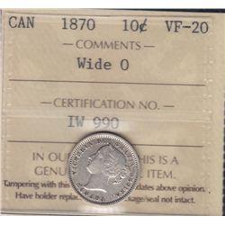 1870 Ten Cent Wide O.
