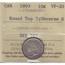 1893 Ten Cent.