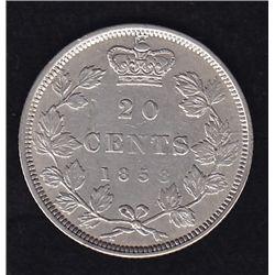 1858 Twenty Cent.