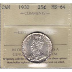 1930 Twenty Five Cent.