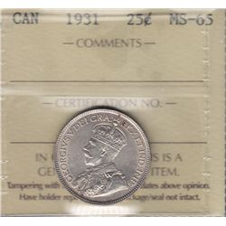 1931 Twenty Five Cent.