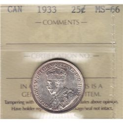 1933 Twenty Five Cent.