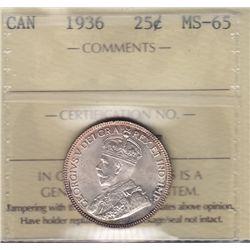 1936 Twenty Five Cent.