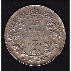 1936 Twenty Five Cent Dot.