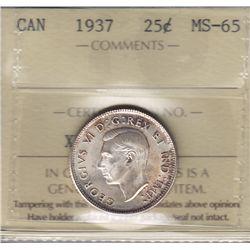 1937 Twenty Five Cent.