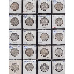 Lot of 35 Fifty Cents.